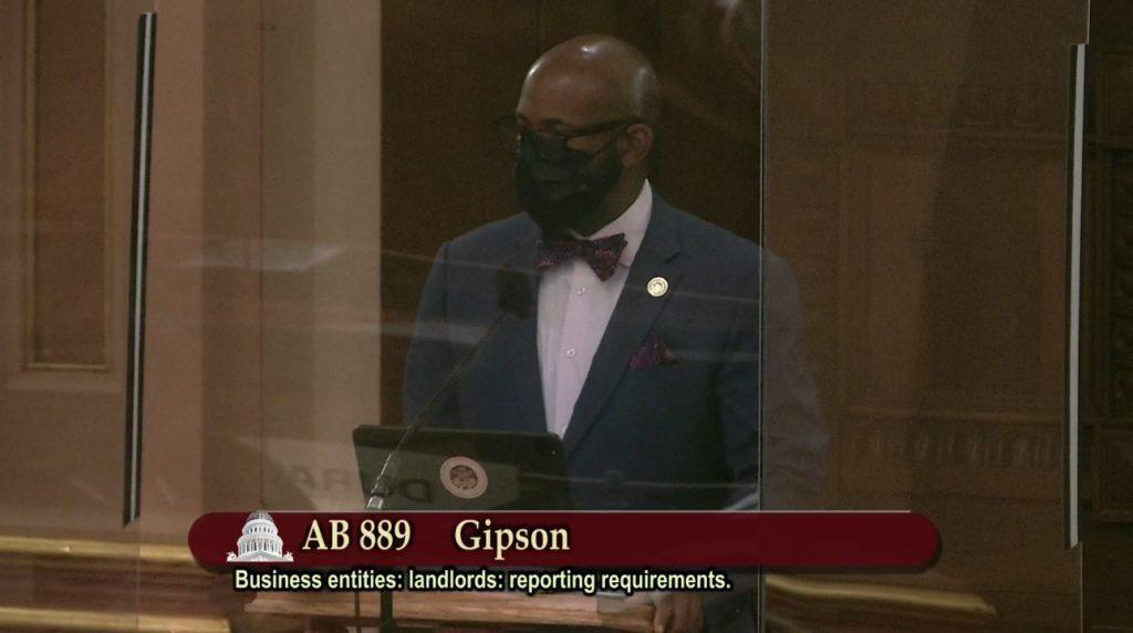 Asm. Mike A. Gispon speaking